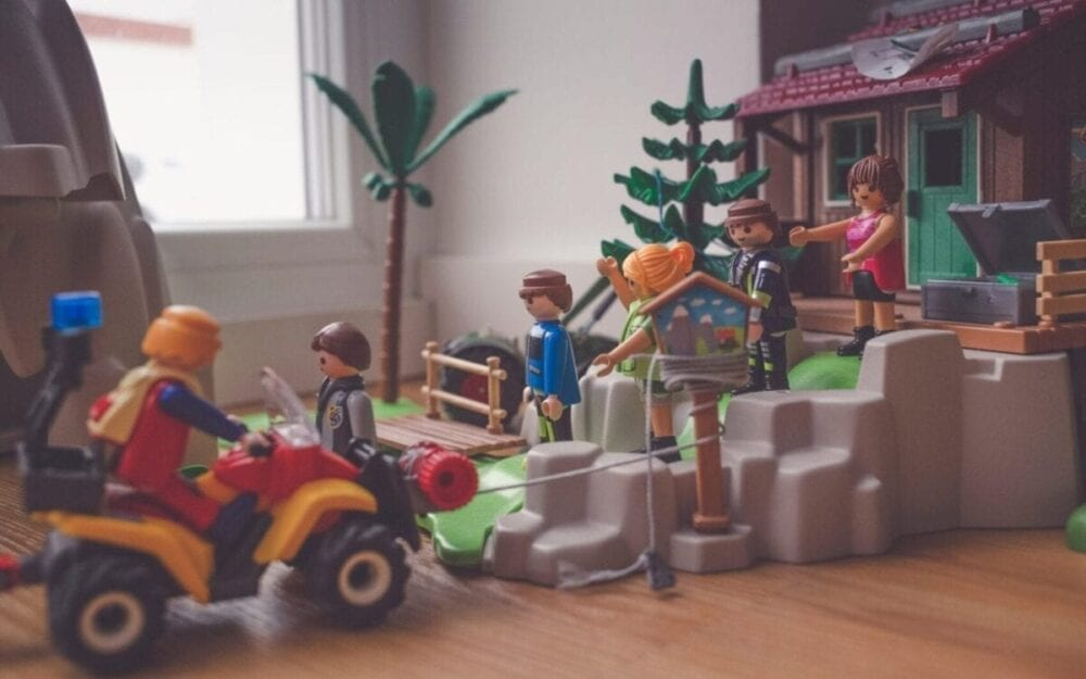 Playing with Playmobil characters